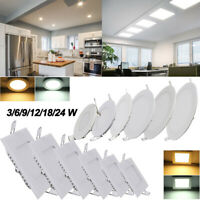 3W 6W 9W 12W 18W 24W LED Recessed Ceiling Panel Down Lights Bulb Super Slim Lamp