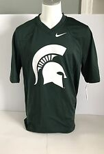 NEW NWT Men's Nike NCAA Michigan State Spartans Football Jersey Green Size Large