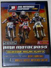 AMA 2005 MOTOCROSS DVD HONDA CR SUZUKI RM KAWASAKI KX YAMAHA YZ RICKY BUBBA KTM