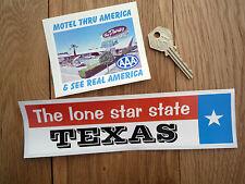 Texas & Motel thru Amérique aaa classique usa autocollants voiture