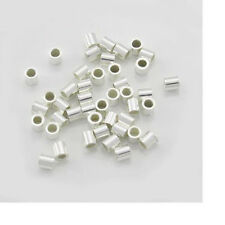 2mm Crimps, Sterling Silver Crimps, 2x2 Crimps, #2 Crimps, 500 PCS, Crimp Tubes