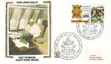 1980 POPE JOHN PAUL II ROME BRAZIL FLIGHT POSTAL COVER