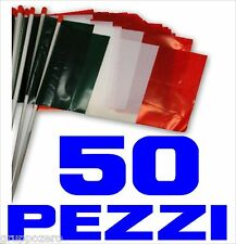 EUROPEI CALCIO bandiera 50 PEZZI plastica ITALIA polietilene cm 30 x 20 STADIO