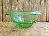 Hazel Atlas Depression Green Glass Rest Well Mixing Nesting Bowl Vintage Kitchen
