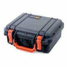 Black & Orange Pelican 1200 Case with Foam.
