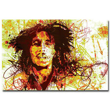 Bob Marley Art Silk Poster Print Music Star Wall Poster 13x20 inch
