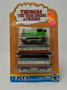 1991 Thomas The Tank Engine ERTL 3 Train Set Percy Annie Clarabel NEW on Card