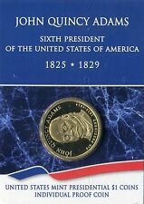 2008 S US Mint JOHN QUINCY ADAMS Presidential Dollar PROOF Individually Packaged
