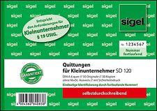 sigel Formularbuch ´Quittung´ für Kleinunternehmer (SD120)