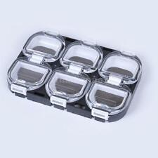 6 Compartments Mini Fishing Tackle Box Hook Lure Storage Case with Magnet U1U0