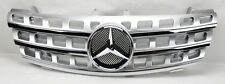V2 Front Hood Sport Silver Chrome Grill Grille for Mercedes ML Class W164 06-08