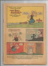 POPEYE THE SAILOR # 71 PR COVERLESS BUT COMPLETE SILVER AGE GOLD KEY COMIC 1964