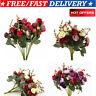 2 Bouquets 42 Head Artifical Rose Silk Flower Bouquet Home Wedding Party Decor
