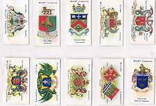WILLS BOROUGH ARMS 2ND EDITION 1905-06 INDIVIDUAL CARDS