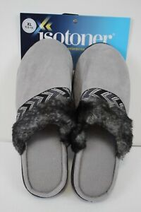 ISOTONER Womens Black Memory Foam House Shoes Slippers size XL 9.5-10 New
