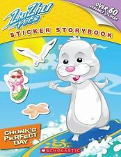 Zhu Zhu Pets - Sticker Storybook - Chunk's Perfect Day - 60 Reusable Stickers