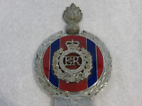 Vintage Car Mascot ER British Army Royal Engineers Bumper Badge Enamel by Gaunt