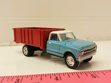1/64 CUSTOM ERTL farm toy light blue 1968 Chevrolet seed grain truck free ship!