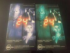24 Season 1  Part 1 & 2 VHS  Format