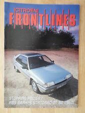 Citroen frontlines 1987 uk marketing in-house magazine brochure-bx cx 25 dtr turbo 2
