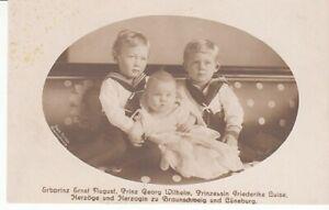 Carte Postale Adel Braunschweig Prince Et Princesse