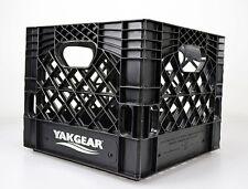 YakGear Black Kayak Fishing Milk Crate - 4 Pack