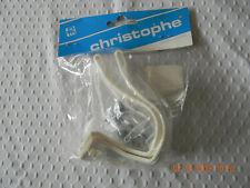 NOS Christophe France White Pedal Toe Clips M  Medium Plastic Resin