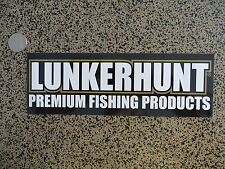 Lunkerhunt Premium Fishing Products Sticker - 9 x 3 inches