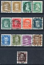 Germany Postage Stamps Scott 351-362, 353b, Used Complete Set!! G975b