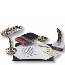 Dollhouse Victorian Desk Lamp & Blotter Set 1.875/6 Reutter Irish Rose Miniature