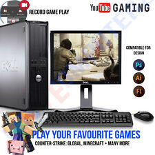 Windows 10 Gaming Computer PC Processore Intel Core 2 DUO 8 GB Ram 1 TB HDD design e di gioco