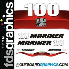 Mariner 100hp 4 stroke EFI outboard decals/sticker kit