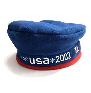 USA US Olympic Team Hat Roots Official Outfitter Blue Red Adjustable R1