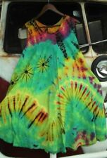 Boho Rayon Tie Dye Dresses for Women