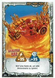 Lego ninjago Series 4 TCG Trading Cards Card No. 221 Spinjitzu Kai
