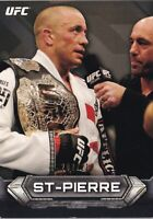 Georges St-Pierre 2014 Topps UFC Knockout GOLD Card #100 GSP #d/219 46 48 50 52