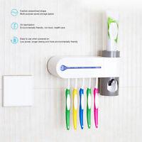 3 IN 1 USB Sterilizzatore UV Porta Spazzolino Dispenser Automatico Dentifricio