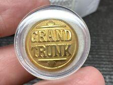 Grand Trunk Railroad Iconic Vintage Rare Beautiful Railroad Uniform Button