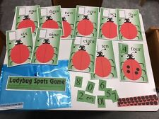 Ladybug's Spots Game Learning Center- Math - Laminated Mats