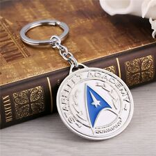 Star Trek Academy Metal Key chain Chrome blue color Collectible gift decor