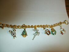 Holiday Charm Bracelet Christmas  - Franklin Mint - New