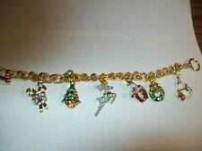 Holiday Charm Bracelet Christmas  - Franklin Mint - New