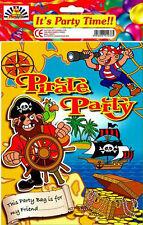 Pirates enfants fête d'anniversaire plastique fête/loot sac