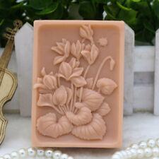 Moldes De Silicona De Flores SOAP MAKING herramientas hágalo usted mismo molde de resina artesanal Jabón hecho a mano