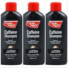 3x Triple Eight Brand Caffeine Hair Growth Keratin Protein Shampoo (3 x 250ml)