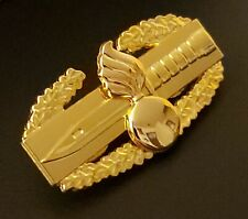 Ordnance Combat Action Badge US Army CAB Military GOLD Medal Pin Hat Insignia