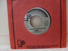 """DAWN """"Tie a yellow ribbon/I cant beleive how much"""" 7""""45rpm Vinyl"""
