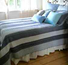 Boys Queen Bed Quilt Set Farmhouse Pottery Rustic Blue Barn Navy Patchwork 3 pce