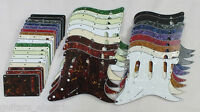 SCRATCH PLATE Pickguard Set SSS to fit USA/Mex STRATOCASTER Strats in 18 Colours