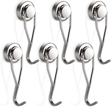 Swing Magnetic Hook Strong 30lbs Capacity Organization 60mm Stainless Steel 6 Pk